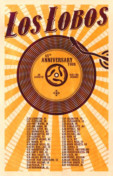 9e9095d7974f6 Catch Los Lobos in your city for the 45th Anniversary Tour! Lobos will be  exploring the depths of their catalog in both acoustic and electric form.